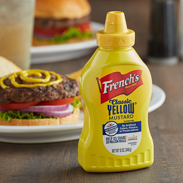 French's 12 oz. Classic Yellow Mustard Squeeze Bottle Main Image 3