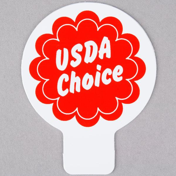 Deli Tag Topper - USDA CHOICE - Red