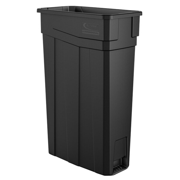 Gray 23 gal Capacity Suncast Commercial TCN2030 Narrow Trash Can Without Handles 30.00 Height x 11.08 Width