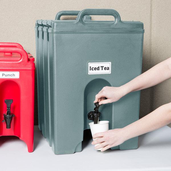Cambro 1000LCD401 Camtainer 11.75 Gallon Slate Blue Insulated Beverage Dispenser