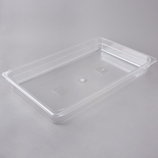 Full Size Clear Polycarbonate Food Pan - 2 1/2 inch Deep