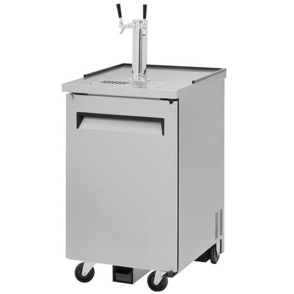 Turbo Air TBD-1SD Double Tap Kegerator Beer Dispenser - Stainless Steel, (1) 1/2 Keg Capacity