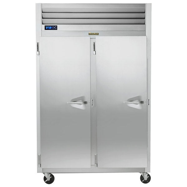 Traulsen G20015P 2 Section Solid Door Pass-Through Refrigerator - Left / Left Hinged Doors Main Image 1