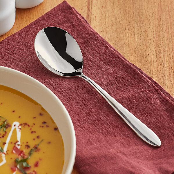 """Acopa Remy 6 1/2"""" 18/8 Stainless Steel Extra Heavy Weight Bouillon Spoon - 12/Case Main Image 3"""
