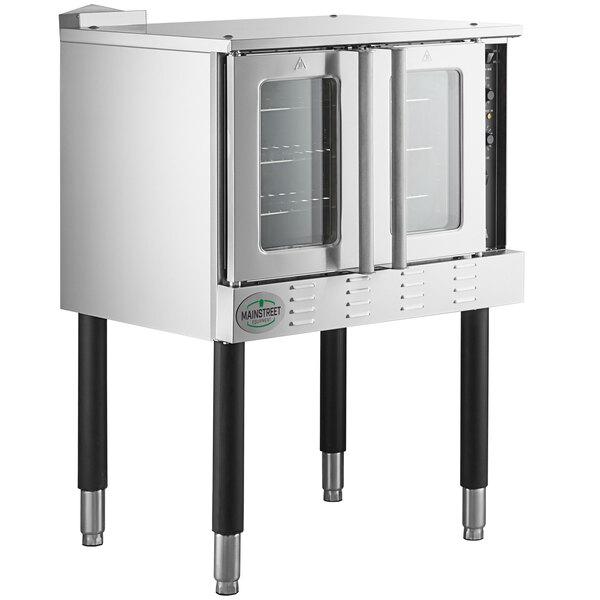Main Street Equipment CG1L Single Deck Full Size Liquid Propane Convection Oven with Legs - 54,000 BTU Main Image 1