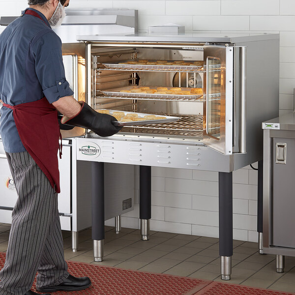 Main Street Equipment CG1N Single Deck Full Size Natural Gas Convection Oven with Legs - 54,000 BTU Main Image 5