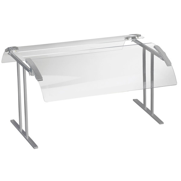 """Cal-Mil 2027-6-74 73 1/4"""" Silver Double-Face Tabletop Sneeze Guard"""