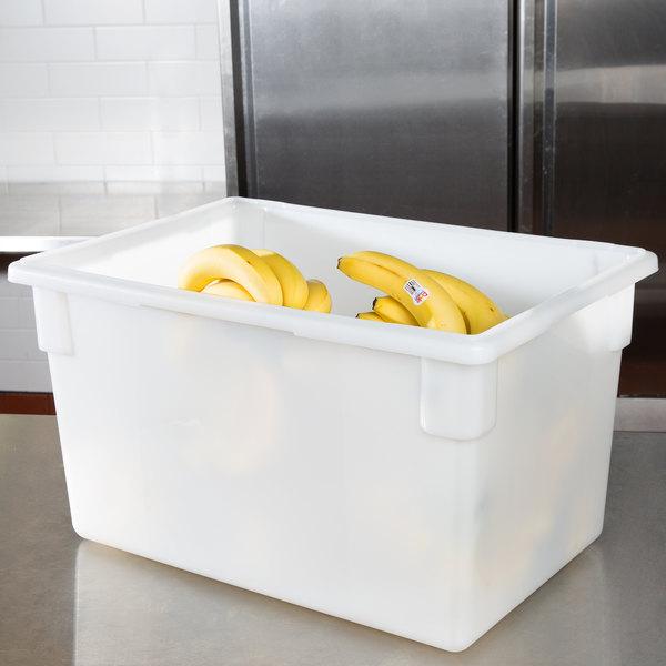 "Carlisle 1064402 StorPlus White Food Storage Box - 26"" x 18"" x 15"" Main Image 7"