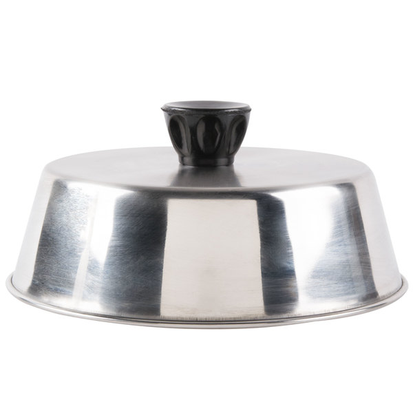 "American Metalcraft BA640S 6 3/4"" Round Stainless Steel Basting Cover Main Image 1"
