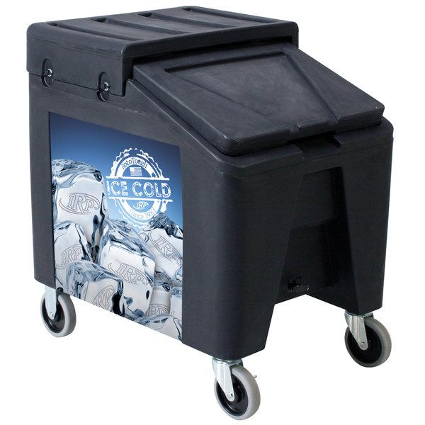 IRP 5075 Black Ice Caddy II 140 lb. Mobile Ice Bin / Beverage Merchandiser