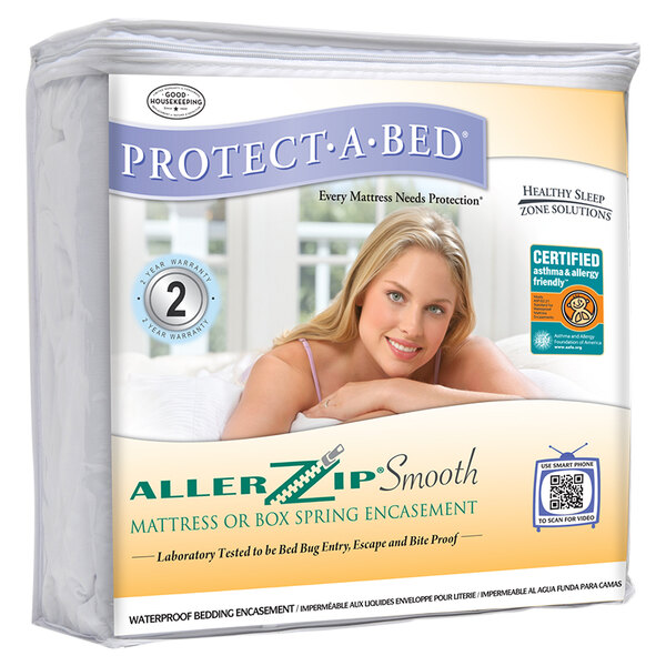 Protect-A-Bed AllerZip Smooth Queen Size Asthma and ...