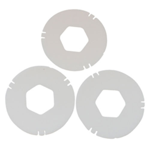 San Jamar XC2422L White Large Replacement Gasket for Euro EZ-Fit C2410 Cup Dispenser - 3/Pack Main Image 1