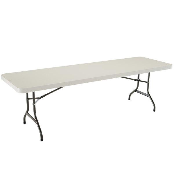 "Lifetime Folding Table, 30"" X 96"" Plastic, Almond - 4/Pack"