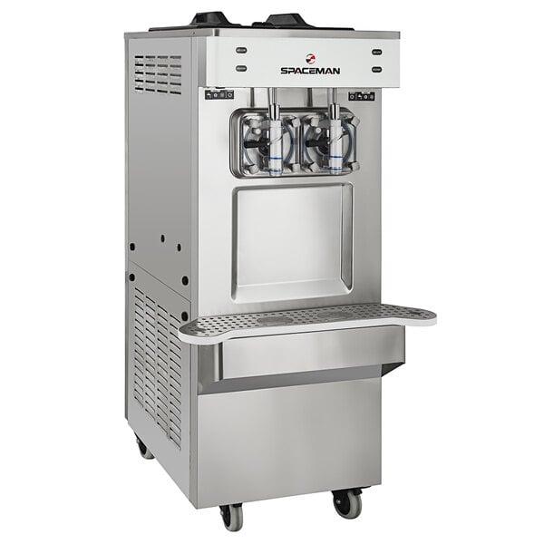 Spaceman 6795-C 2 Bowl Slushy / Granita Stainless Steel Floor Model Frozen Drink Machine - 208/230V Main Image 1