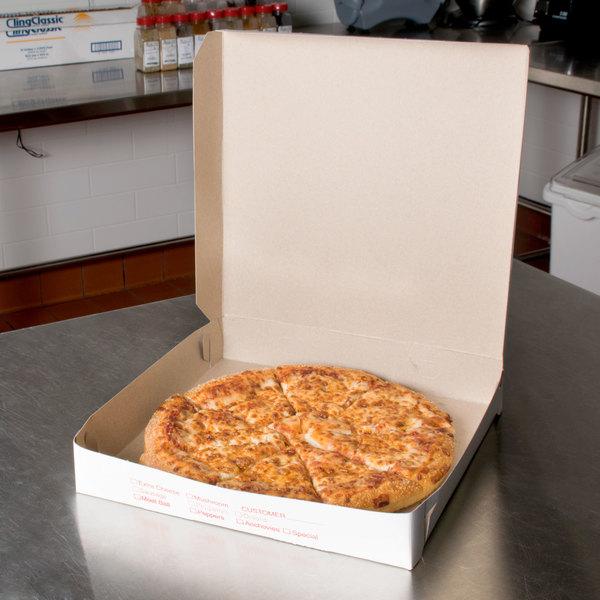 "12"" x 12"" x 2"" Clay Coated Pizza Box - 100/Bundle"