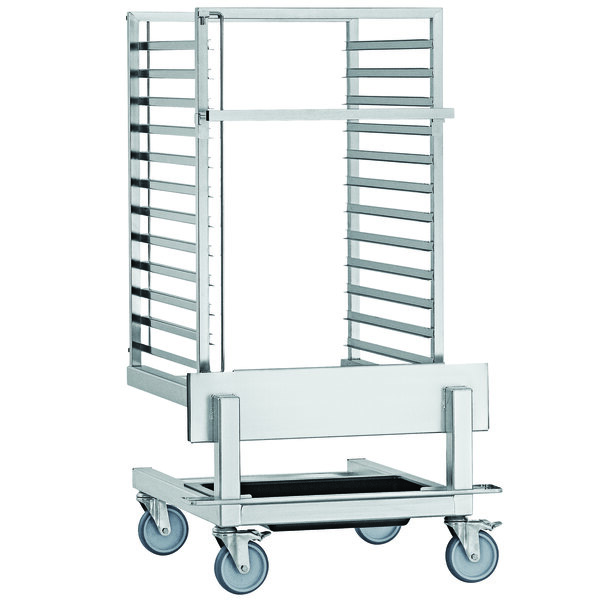 """Convotherm CSRT1220-4 29 1/8"""" x 25 3/4"""" x 52"""" Roll-In Pan Transport Trolley for 12.20 Combi Ovens Main Image 1"""