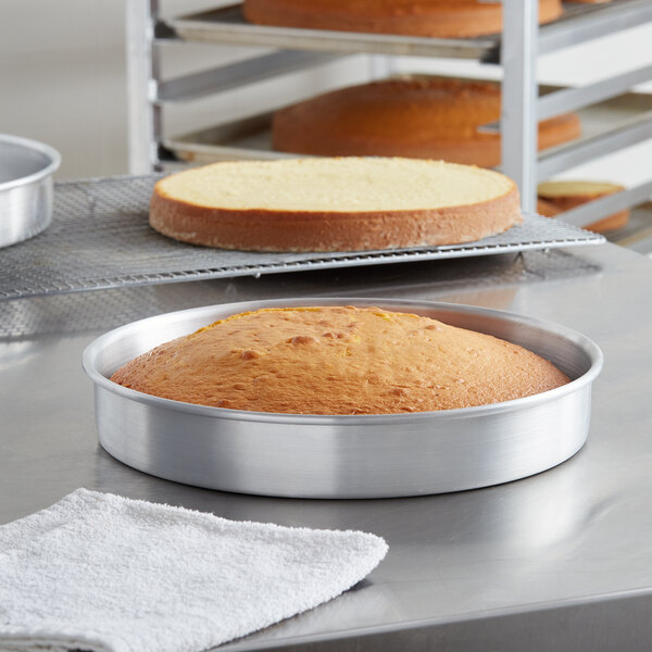 "Choice 12"" x 2"" Round Straight Sided Aluminum Cake / Deep Dish Pizza Pan Main Image 2"