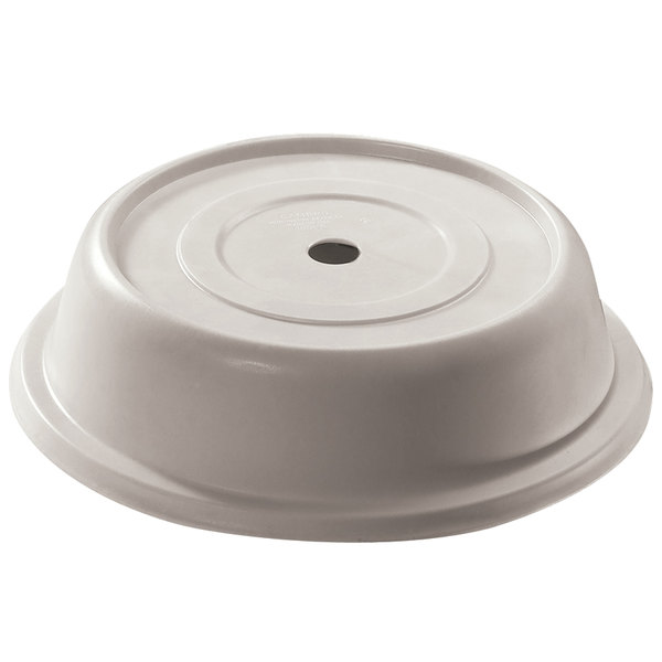 "Cambro 124VS380 Versa 12 1/4"" Ivory Camcover Round Plate Cover - 12/Case"