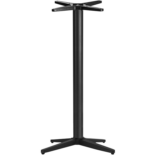 """NOROCK Trail TRST30BKB Self-Stabilizing 30"""" x 30"""" Sandstone Black Zinc-Plated Powder-Coated Steel Outdoor / Indoor Bar Height Table Base Main Image 1"""