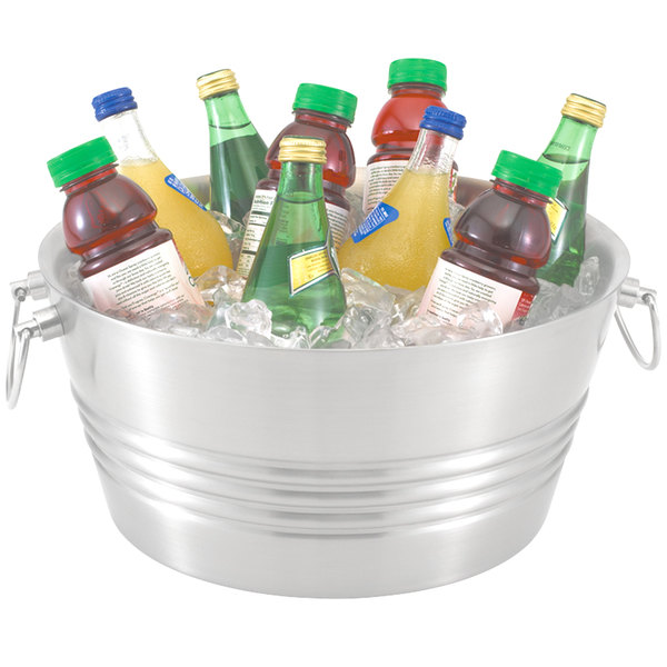 beverage bucket party galvanised oval steel tub dp drink beer