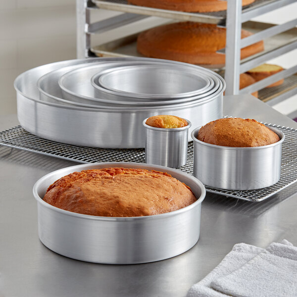 McoMce 3 Pack 8 Inch Cake Pan Performance Aluminum 4//6//8 Perfect for Tier Smash Cake Nonstick /& Leakproof Set with 8 Inch Non-Toxic /& Healthy Round Cake Pans 6 Inch and 4 Inch Cake Pan