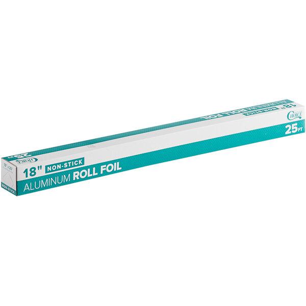 Choice 18 inch x 25' Non-Stick Aluminum Foil Roll