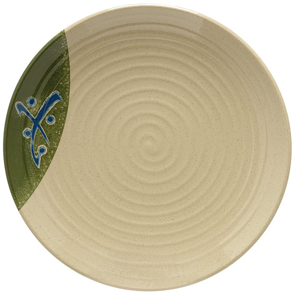 """GET 207-10-TD Japanese Traditional 10 1/2"""" Plate with Swirl Texture - 12/Case"""