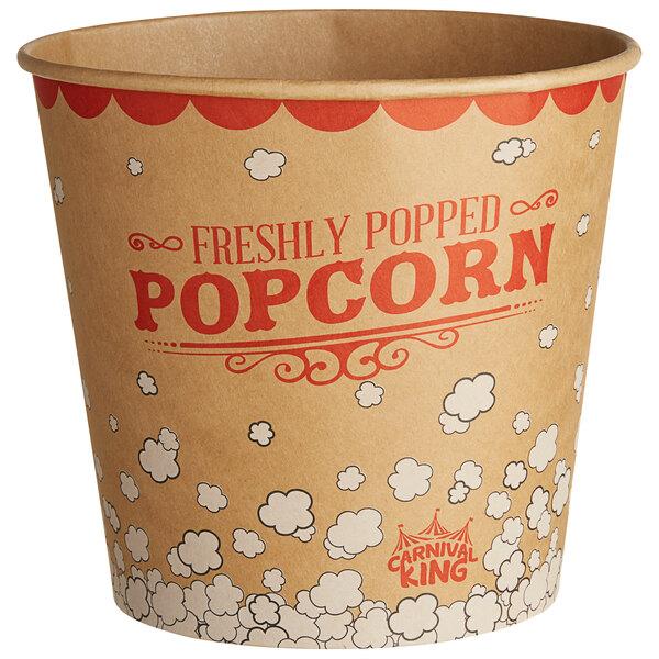 Carnival King Kraft 170 oz. Popcorn Bucket - 25/Pack Main Image 1