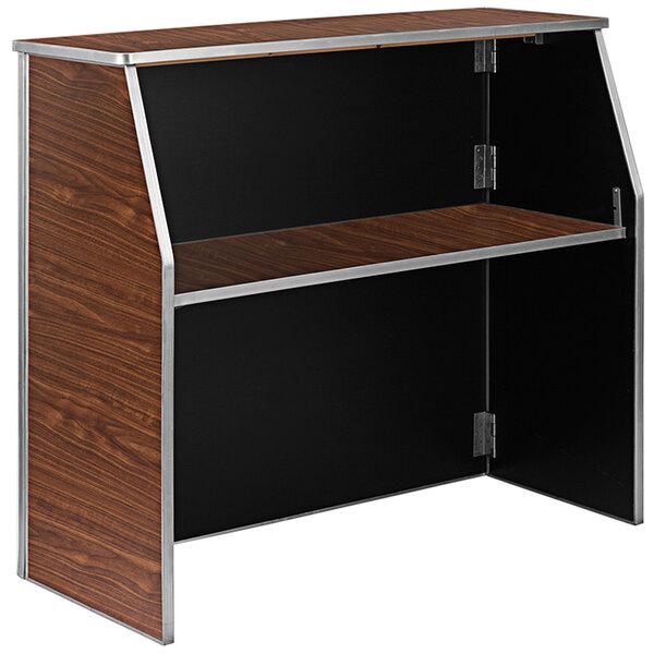 """Flash Furniture XA-BAR-48-WAL-GG 47 3/4"""" Brown Walnut Laminate Portable Bar Main Image 1"""