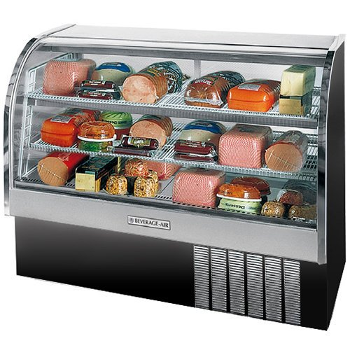 """Beverage-Air CDR5/1-B-20 Black Curved Glass Refrigerated Bakery Display Case 61"""" - 22.9 Cu. Ft."""