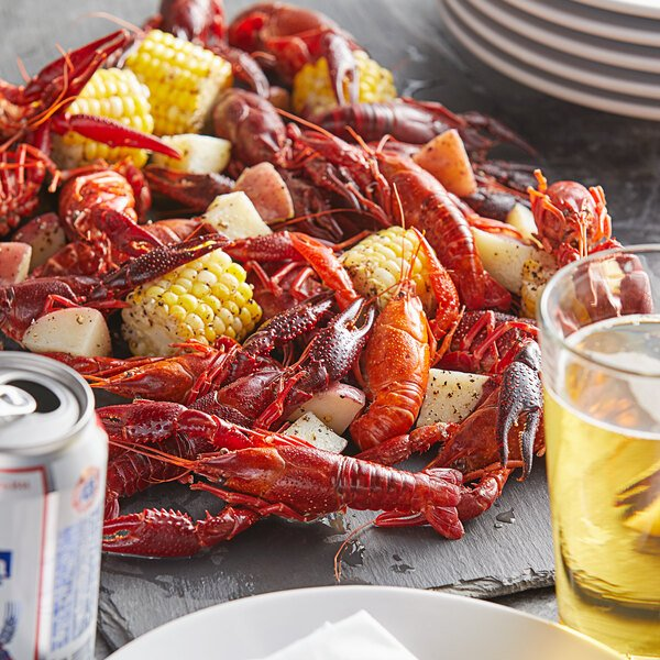 CenSea 5 lb. 10/15 Count Whole Cooked and Seasoned Crawfish - 2/Case Main Image 2