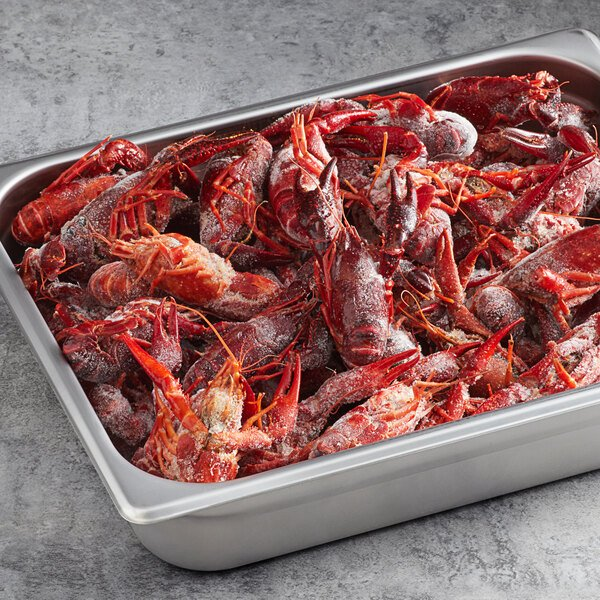 CenSea 5 lb. 10/15 Count Whole Cooked and Seasoned Crawfish - 2/Case