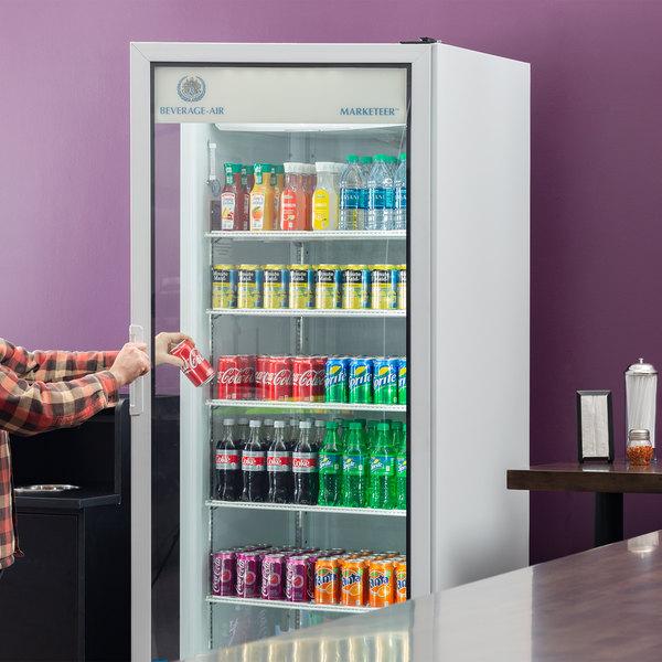 Beverage-Air LV23HC-1-W White Lumavue Refrigerated Glass Door Merchandiser with LED Lighting - 23 Cu. Ft. Main Image 6