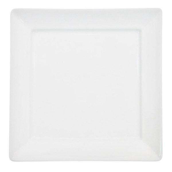 "CAC F-SQ6 Paris French 6"" Bone White Square Porcelain Plate - 36/Case"