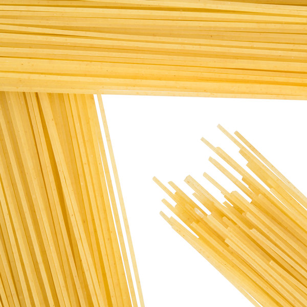 Close up of dry angel hair pasta