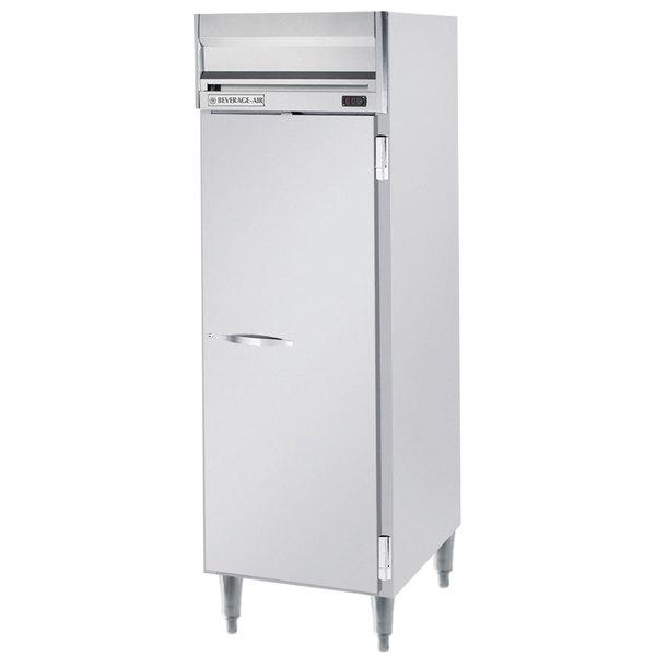 """Beverage-Air HRPS1-1S Horizon Series 26"""" Solid Door All Stainless Steel Reach-In Refrigerator"""