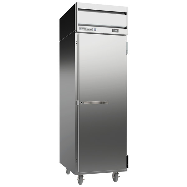 "Beverage-Air HRPS1-1S Horizon Series 26"" Solid Door All Stainless Steel Reach-In Refrigerator"