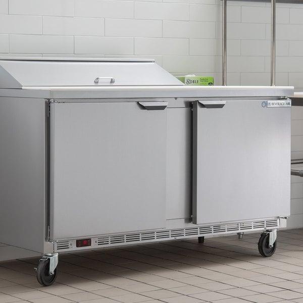 """Beverage-Air SPE60HC-10 Elite Series 60"""" 2 Door Refrigerated Sandwich Prep Table"""