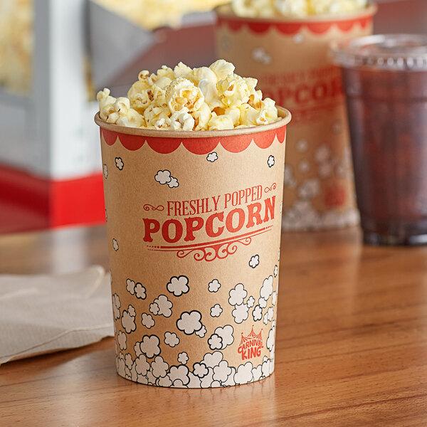 Carnival King Kraft 32 oz. Popcorn Cup - 50/Pack Main Image 2