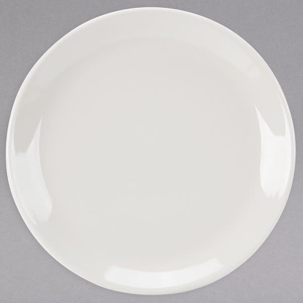 "Homer Laughlin HL30400 Empire 6 1/2"" Ivory (American White) Coupe China Plate - 36/Case Main Image 1"