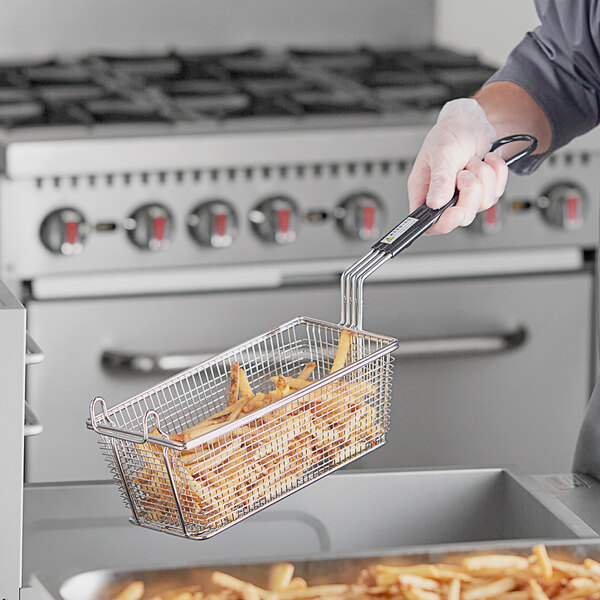 """11"""" x 5 3/8"""" x 4 1/8"""" Twin Fryer Basket with Front Hook Main Image 2"""