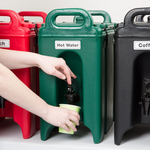 Cambro 250LCD519 Camtainers® 2.5 Gallon Kentucky Green Insulated Beverage Dispenser Main Image 5