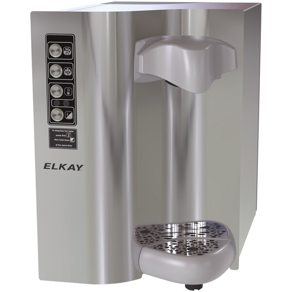 Elkay DSWH160UVPC Stainless Steel 4 GPH Filtered Water Dispenser with Hot, Chilled, and Sparkling Options - 115V Main Image 1