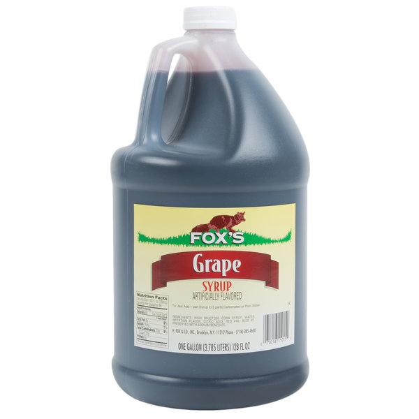 Fox's 1 Gallon Grape Drink Concentrate - 4/Case