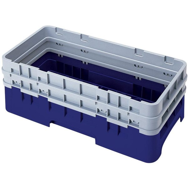 Cambro HBR578186 Navy Blue Camrack Half Size Open Base Rack with 2 Extenders Main Image 1