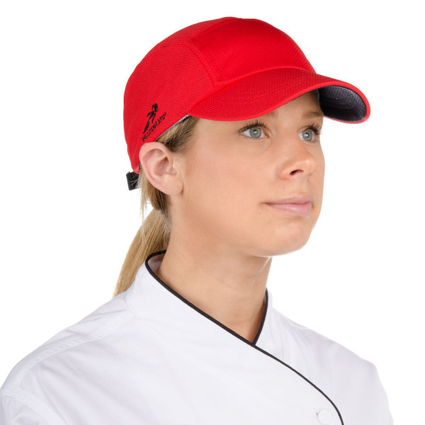 Headsweats 7700-203 Red Eventure Fabric Customizable Chef Cap