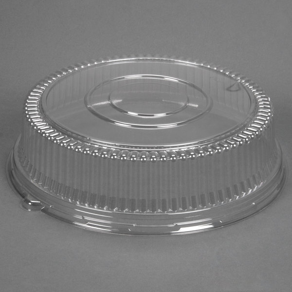 Sabert 5516 16 inch Clear Dome Lid for Round Catering Tray - 36/Case