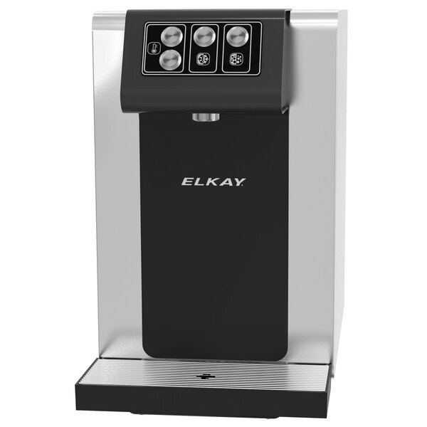 Elkay DSBSH130UVPC Stainless Steel 1.5 GPH Countertop Filtered Water Dispenser with Hot, Chilled, and Sparkling Water Options - 115V Main Image 1