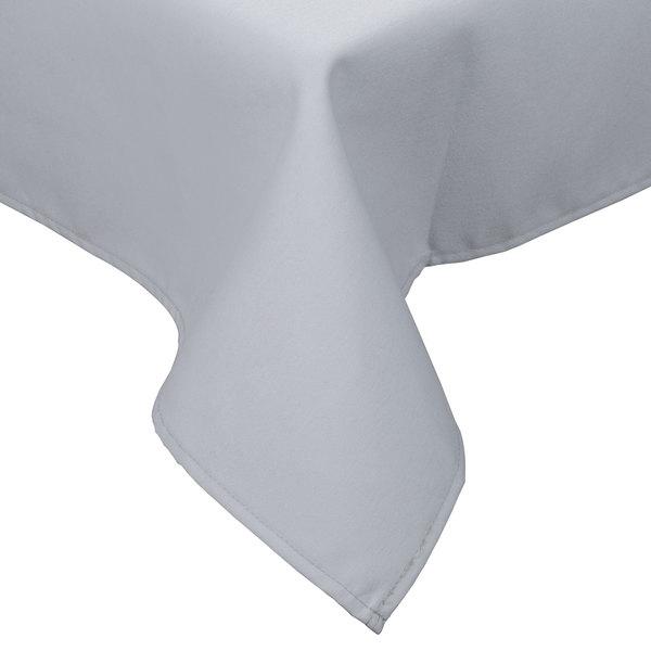 "90"" x 90"" Gray Hemmed Polyspun Cloth Table Cover"