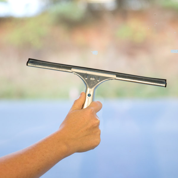 "Carlisle 4007000 12"" Window Squeegee with Rubber Blade"